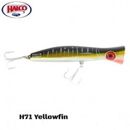 Halco lures Halco Haymaker Roosta Popper 195 H71 yellowfin