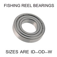 6x12x4mm precision shielded SS fishing reel bearings