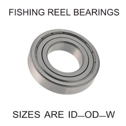 6x17x6mm precision shielded SS fishing reel bearings