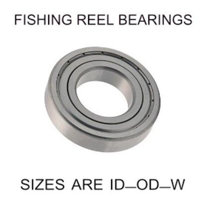 8x14x4mm precision shielded SS fishing reel bearings