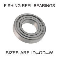 9x17x4mm open stainless steel fishing reel bearing