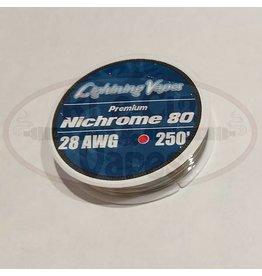 Lightning Vapes Lightning Vapes Ni 80 28G Wire 250Ft