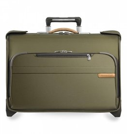 BRIGGS & RILEY OLIVE CARRYON WHEELED GARMENT BAG