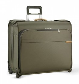 BRIGGS & RILEY OLIVE DELUXE WHEELED GARMENT BAG