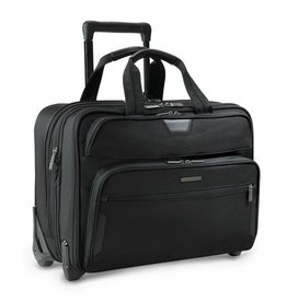 BRIGGS & RILEY BLACK BRIEFCASE ON WHEELS