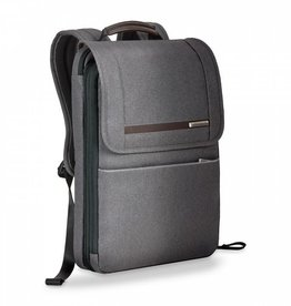 BRIGGS & RILEY GREY FLAPOVER BACKPACK