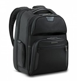 BRIGGS & RILEY BLACK LARGE CLAMSHELL BACKPACK