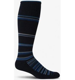 SOCKWELL MEDIUM/LARGE Black Blue Stripe