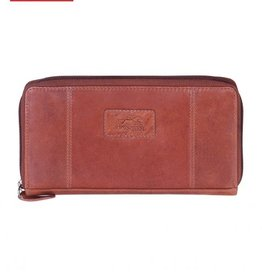 MANCINI LEATHER RED LADIES LEATHER WALLET RFID