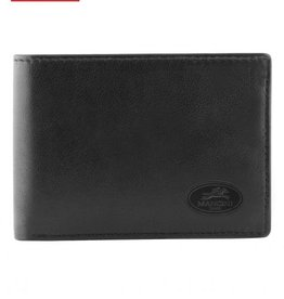 MANCINI LEATHER RFID BLACK MENS LEATHER WALLET