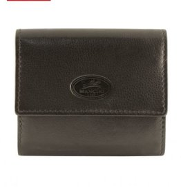 MANCINI LEATHER RFID BLACK CREDIT CARD CASE
