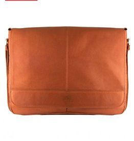 MANCINI LEATHER COGNAC LEATHER MESSENGER