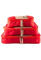 MANCINI LEATHER TA100 RED PACKING CUBE SET