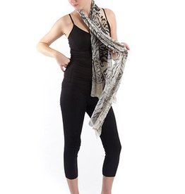 SHARANEL SCARF ANIMAL BROWN