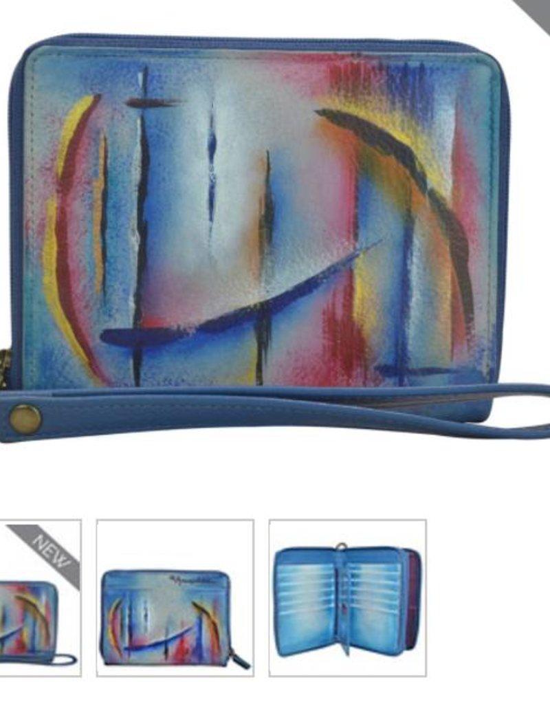ANUSCHKA 1143 WHP Zip Around Organizer RFID Clutch Wallet