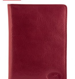 MANCINI LEATHER RFID RED LEATHER PASSPORT HOLDER