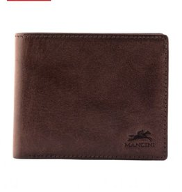 MANCINI LEATHER BROWN MENS LEATHER WALLET