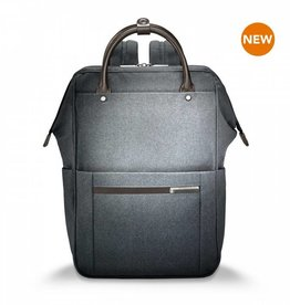 BRIGGS & RILEY GREY WIDE MOUTH BACKPACK