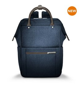 BRIGGS & RILEY NAVY WIDE MOUTH BACKPACK