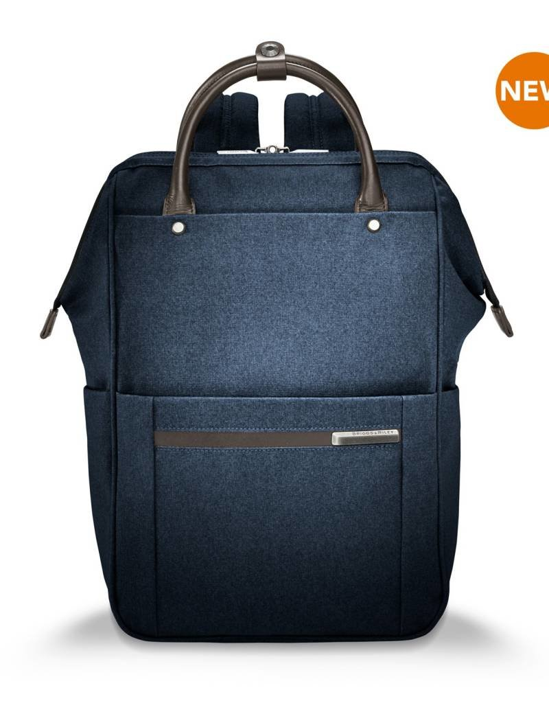 BRIGGS & RILEY ZP120-5 NAVY WIDE MOUTH BACKPACK