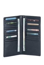 MANCINI LEATHER 52165 RFID BLACK LADIES LEATHER WALLET