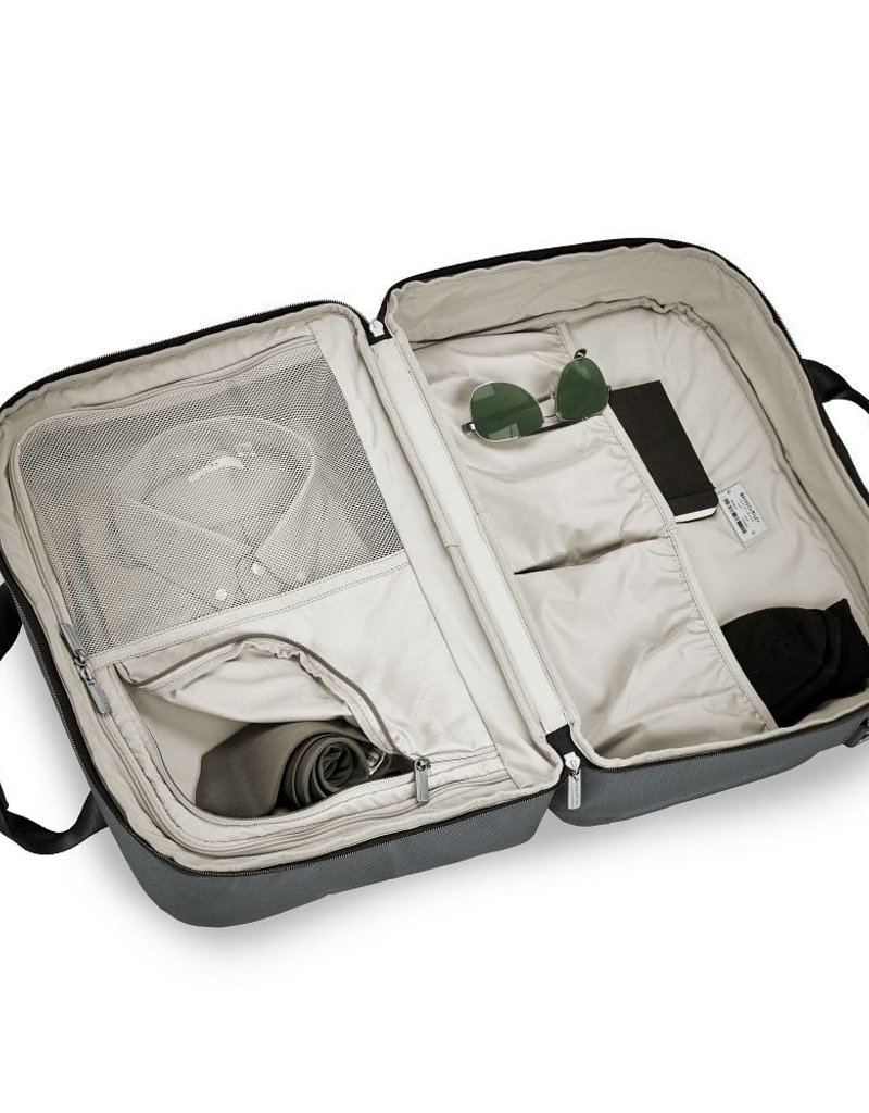 BRIGGS & RILEY TD441- 47 SLATE CLAMSHELL CABIN BAG