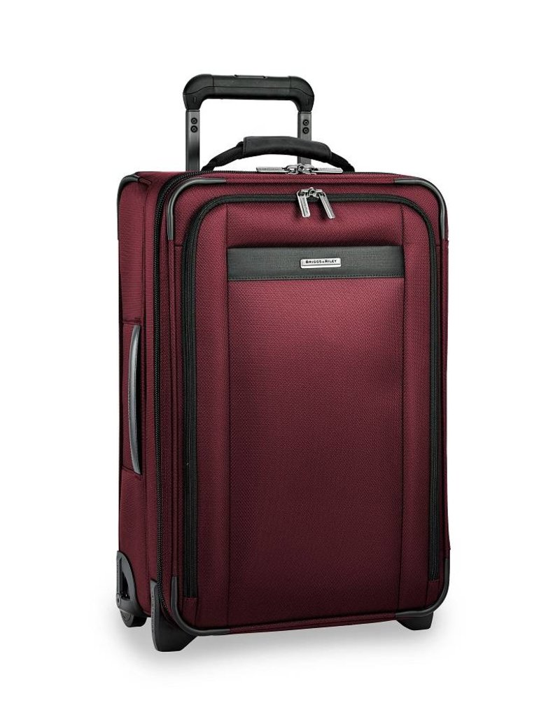 BRIGGS & RILEY TU422VX- 46 MERLOT TALL CARRYON U.S. EXP UPRIGHT