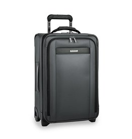 BRIGGS & RILEY SLATE TALL CARRYON ON U.S. EXPANDABLE UPRIGHT