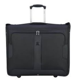 DELSEY BLACK 42 GARMENT BAG ON WHEELS