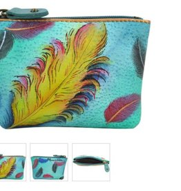 ANUSCHKA FLOATING FEATHERS COIN CASE