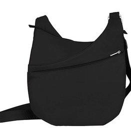 TRAVELON Drape Front Shoulder Bag BLACK