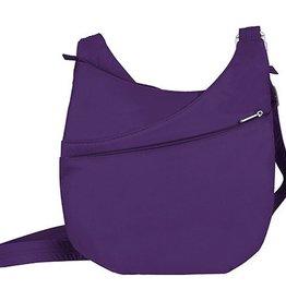 TRAVELON Drape Front Shoulder Bag PURPLE