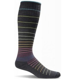 SOCKWELL MEDIUM/LARGE BLACK STRIPE