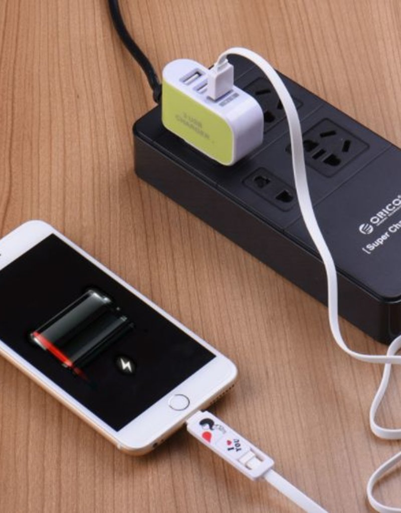 EU Plug 3 USB Adapter