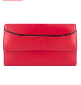 MANCINI LEATHER RED MENS LEATHER RFID WALLET