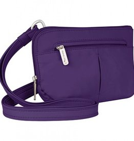 TRAVELON Convertible Crossbody and Waist Pack PURPLE