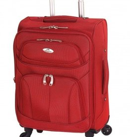 MANCINI LEATHER FEATHER LITE 21 RED SPINNER CARRYON