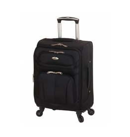 MANCINI LEATHER FEATHER LITE 21 BLACK SPINNER CARRYON