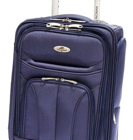 MANCINI LEATHER FEATHER LITE 17 NAVY UPRIGHT CARRYON