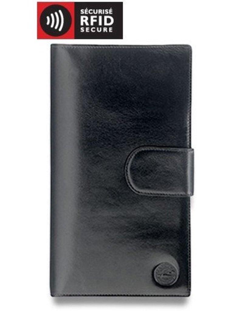 MANCINI LEATHER 52169 BLACK LEATHER PASSPORT HOLDER