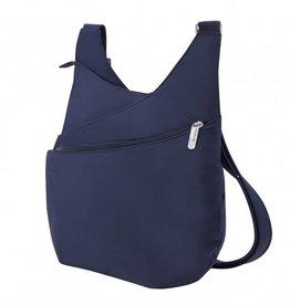 TRAVELON Drape Front Shoulder Bag LUSHBLUE