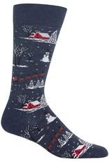 RENFRO HM100481 Men's Christmas Scene Socks
