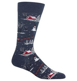 RENFRO Men's Christmas Scene Socks