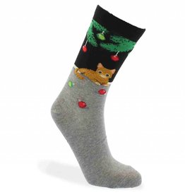 RENFRO CHRISTMAS CAT SOCKS
