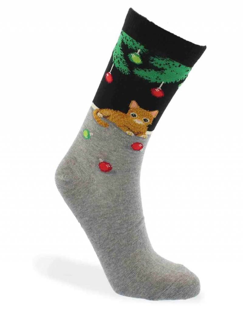 RENFRO HO002533 CHRISTMAS CAT SOCKS