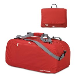 HIGH SIERRA RED 36 PACK N GO DUFFLE BAG