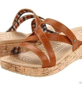 CROCS ALEIGH MINI WEDGE 10 COCOA