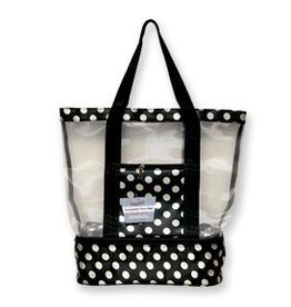 CANADIAN GIFT CONCEPTS INSULATED TOTE DOT WHITE