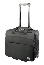 SWISS ARMY 3033301 BLACK OFFICER 17 WHEELED BUSINESS CASE