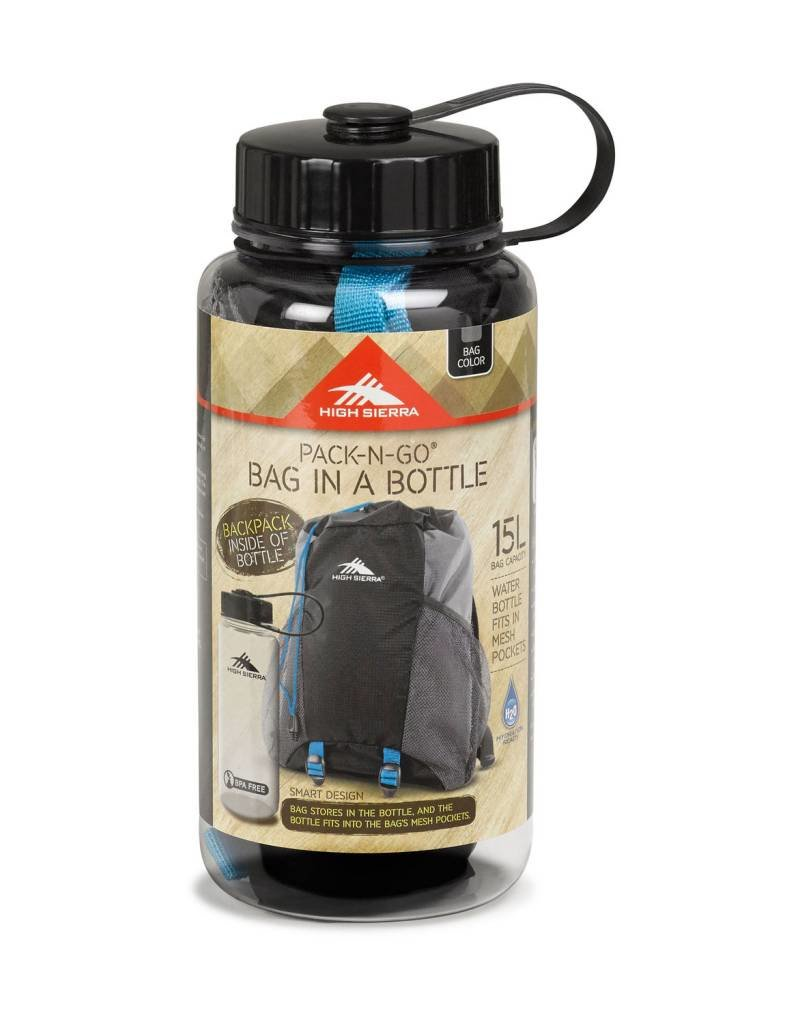 HIGH SIERRA 639074415 BAG IN A BOTTLE BLACK BACKPACK